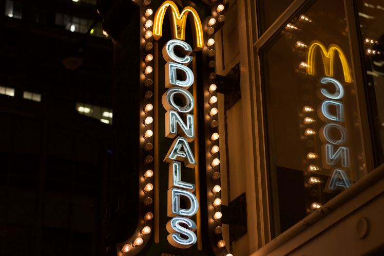 fancy mcdonald's sign