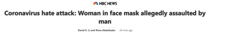 coronavirus headline racist attack